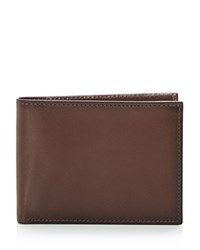 Bloomingdale's The Men's Store At Rfid Smooth Slimfold Wallet Brown