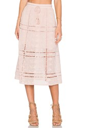 House Of Harlow X Revolve Callie Midi Skirt Taupe