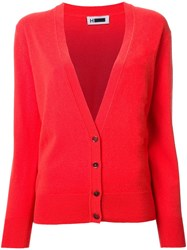 H Beauty And Youth V Neck Cardigan Red