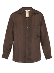 Eytys Donovan Voile Shirt Brown