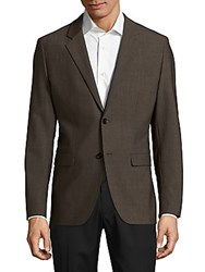 Theory Regular Fit Textured Wool Sportcoat Heather Otter