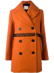 3.1 Phillip Lim Lace Detail Peacoat Yellow And Orange