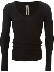 Rick Owens Scoop Neck Sweater Black