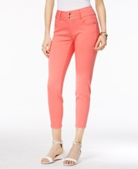 Thalia Sodi Double Button Skinny Ankle Pants Only At Macy's Candy Coral