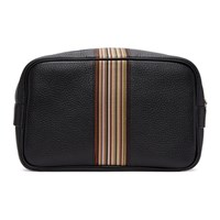 Paul Smith Black Multistripe Wash Bag