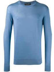 Dolce And Gabbana Crew Neck Sweater Blue