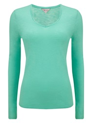 Phase Eight Slub V Neck Tee Green