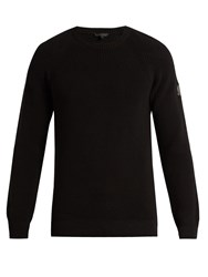 Belstaff Parkland Crew Neck Cotton Sweater Black