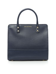 Lulu Guinness Daphe Textured Leather Small Tote Bag Navy