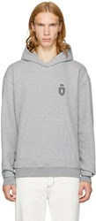 John Elliott Grey Oversized Cropped Strength And Conditioning Hoodie