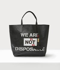 Vivienne Westwood Punk Leather Shopper Black