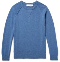 Private White V.C. Cashmere Sweater Blue