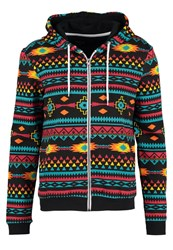 Your Turn Tracksuit Top Black Multicoloured
