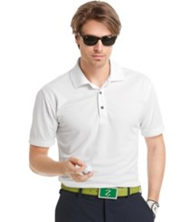 Izod Performance Solid Grid Golf Polo White