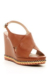 Ellen Tracy Nieve Wedge Sandal Brown