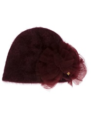 Ca4la Tulle Detail Beanie Red