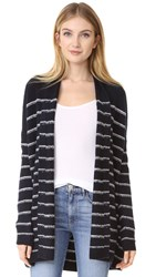 Vince Stripe Cardigan Coastal Off White