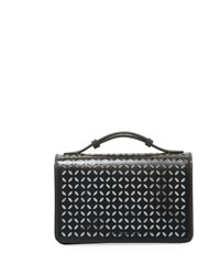 Alaia Petal Cutout Clutch Bag With Handle Black Silver