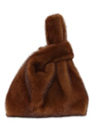 Simonetta Ravizza Furissima Mink Fur Bag Brown