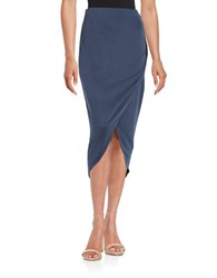 Splendid Side Ruched Maxi Skirt Navy