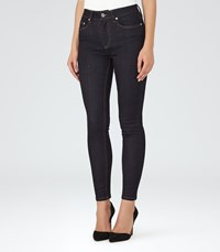 Reiss Helvin High Rise Skinny Jeans In Blue Womens