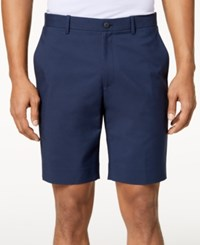 Alfani Men's Flat Front Shorts Created For Macy's Deep Twighlight