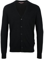 Michael Kors V Neck Cardigan Black