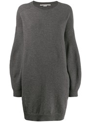 Stella Mccartney Knitted Sweater Dress Grey