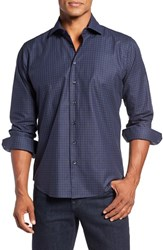 Toscano Men's Regular Fit Check Sport Shirt