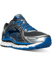 Brooks Men's Adrenaline Gts 17 Running Sneakers From Finish Line Anthracite Electric Brook