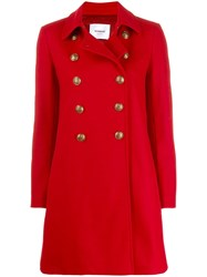 Dondup Cappotto Coat Red