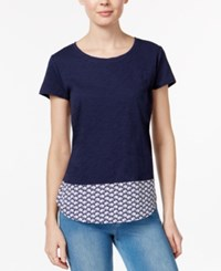 Maison Jules Cotton Printed Back T Shirt Only At Macy's Blu Notte