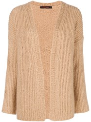 Incentive Cashmere Open Front Cardigan Nude And Neutrals