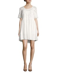 French Connection Embroidered Loose Fit Dress Summer White