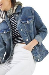 Topshop Petite Women's Western Denim Jacket