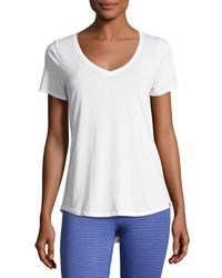 Marc New York Short Sleeve V Neck Tee White
