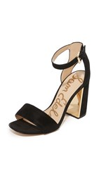 Sam Edelman Synthia Block Heeled Sandals Black