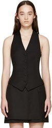Pallas Black Wool Regulus Vest