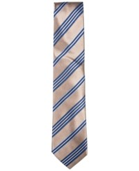 Countess Mara Men's Fieldstone Stripe Tie Taupe