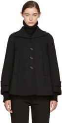Maison Martin Margiela Mm6 Black Wool Swing Coat