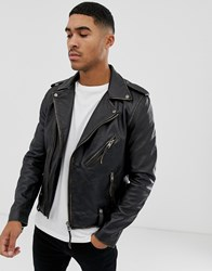 Bolongaro Trevor Antique Finish Biker Jacket Antique Black
