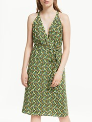 Boden Olwen Dress Khaki Bird Otomi