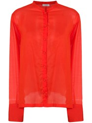Mauro Grifoni Tie Back Shirt Red