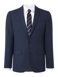 Kenneth Cole Waldorf Slim Fit Micro Grid Check Suit Jacket Blue