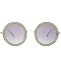 The Row Row831 Signature Round Sunglasses Mint White