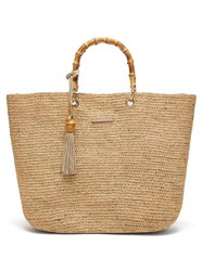 Heidi Klein Savannah Bay Medium Raffia Tote Bag Beige