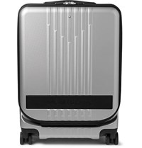 Montblanc My4810 Cabin Trolley 55Cm Leather Trimmed Polycarbonate Suitcase Silver