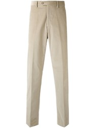 Brioni Corduroy Trousers Men Cotton Spandex Elastane 46 Nude Neutrals