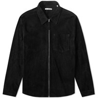 Our Legacy Suede Zip Shirt Black