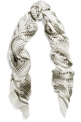 Anya Hindmarch Diamonds Printed Modal And Cashmere Blend Scarf Clear